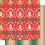 Cosmo Cricket - Dear Mr. Claus Collection - Christmas - 12 x 12 Double Sided Paper - Trim-Trim-er-ee