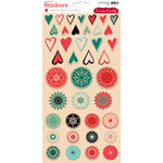Cosmo Cricket - Dear Mr. Claus Collection - Christmas - Stickers - Lovely Bits