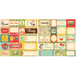 Cosmo Cricket - Early Bird Collection - 12 x 12 Double Sided Paper - Elements