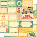 Cosmo Cricket - Salt Air Collection - 12 x 12 Double Sided Paper - Elements