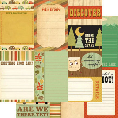 Cosmo Cricket - Mr Campy Collection - 12x12 Double Sided Paper - Journal Cards