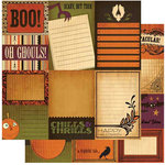 Cosmo Cricket - Haunted Halloween Collection - 12x12 Double Sided Paper - Journal Cards