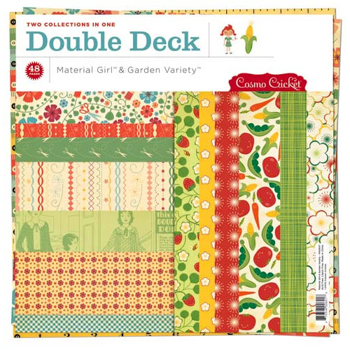 Cosmo Cricket - Garden Variety and Material Girl Collections - Double Deck 12 x 12 Paper Pad