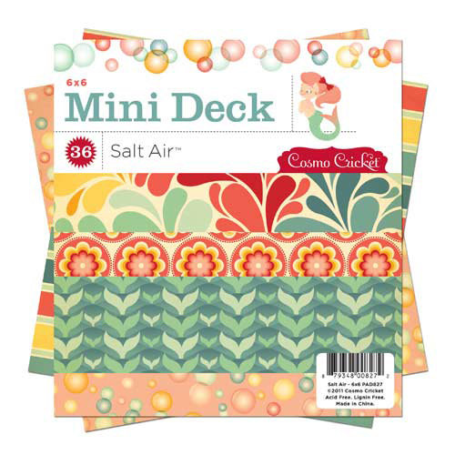 Cosmo Cricket - Salt Air Collection - Mini Deck - 6 x 6 Paper Pad, BRAND NEW