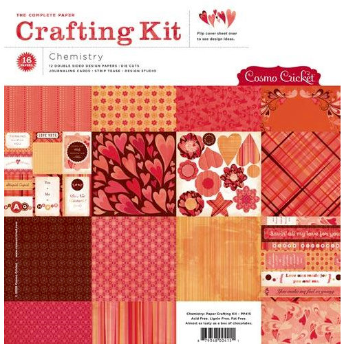 Cosmo Cricket - Chemistry Collection - Valentines - Paper Crafting Kit