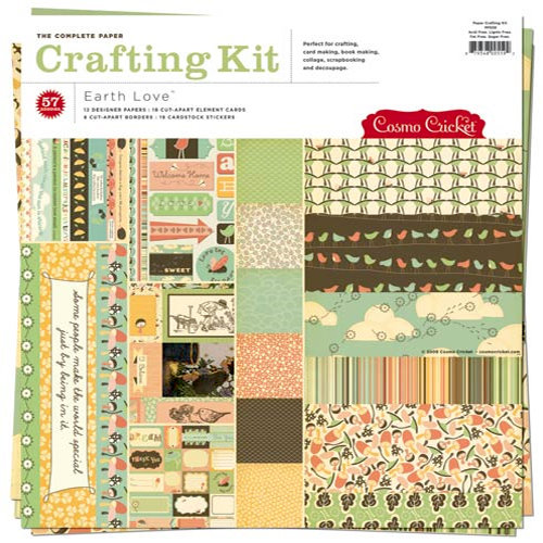 Cosmo Cricket - Earth Love Collection - Paper Crafting Kit