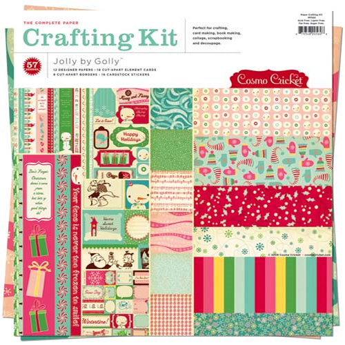 Cosmo Cricket - Jolly By Golly Collection - Paper Crafting Kit, CLEARANCE