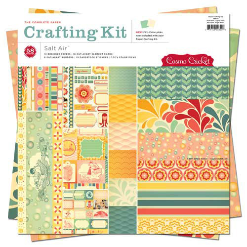 Cosmo Cricket - Salt Air Collection - Paper Crafting Kit