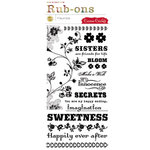 Cosmo Cricket - Fleuriste Collection - Rub-Ons - Fleurist, CLEARANCE