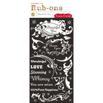 Cosmo Cricket - Fleuriste Collection - Rub-Ons - Beautiful You, CLEARANCE