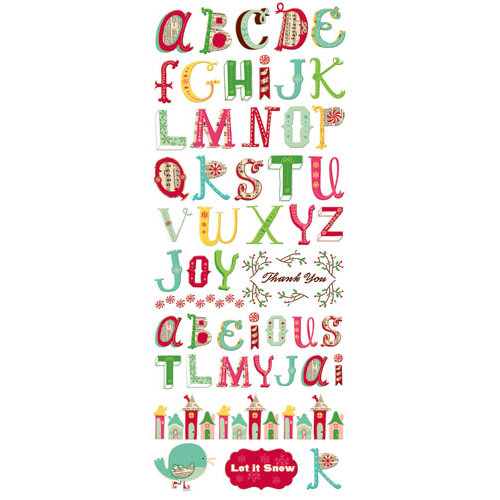 Cosmo Cricket - Jolly By Golly Collection - Rub Ons - Alphabet, CLEARANCE