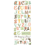 Cosmo Cricket - Earth Love Collection - Rub Ons - Alphabet