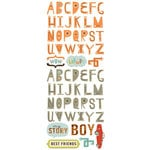 Cosmo Cricket - The Boyfriend Collection - Rub Ons - Alphabet