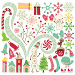 Cosmo Cricket - Jolly By Golly Collection - Ready Set Chipboard
