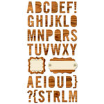 Cosmo Cricket - The Boyfriend Collection - Ready Set Chipboard - Alphabet