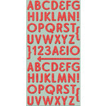 Cosmo Cricket - Ready Set Chipboard - Red Line Alphabet, CLEARANCE