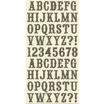 Cosmo Cricket - Ready Set Chipboard - School House Alphabet, CLEARANCE