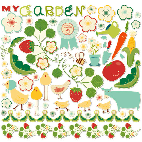 Cosmo Cricket - Garden Variety Collection - Ready Set Chipboard, CLEARANCE