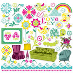 Cosmo Cricket - DeLovely Collection - Ready Set Chipboard