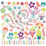 Cosmo Cricket - Pixie-Licious Collection - 12 x 12 Ready Set Chipboard, CLEARANCE