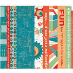 Cosmo Cricket - Cogsmo Collection - Strip Tease Paper - Cogsmo, CLEARANCE