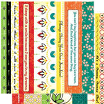 Cosmo Cricket - Hello Sunshine Collection - 12x12 Cardstock Strip Tease - Picnic