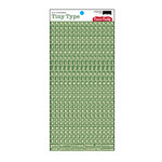 Cosmo Cricket - Tiny Type Collection - Alphabet Cardstock Stickers - Green