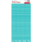 Cosmo Cricket - Tiny Type Collection - Alphabet Cardstock Stickers - Turquoise