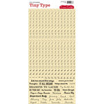 Cosmo Cricket - Tiny Type Collection - Number Cardstock Stickers - Butter
