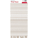 Cosmo Cricket - Tiny Type Collection - Alphabet Cardstock Stickers - Brown Clear
