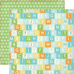 Carta Bella Paper - Baby Mine Collection - Boy - 12 x 12 Double Sided Paper - Alphabet Blocks