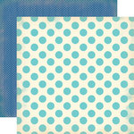 Carta Bella Paper - Baby Mine Collection - Boy - 12 x 12 Double Sided Paper - Baby Boy Dots