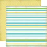 Carta Bella Paper - Baby Mine Collection - Boy - 12 x 12 Double Sided Paper - Baby Boy Stripes