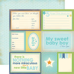 Carta Bella Paper - Baby Mine Collection - Boy - 12 x 12 Double Sided Paper - Sweet Baby