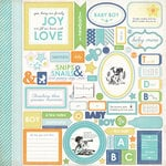 Carta Bella Paper - Baby Mine Collection - Boy - 12 x 12 Cardstock Stickers - Elements