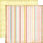 Carta Bella Paper - Baby Mine Collection - Girl - 12 x 12 Double Sided Paper - Baby Girl Stripe