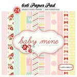 Carta Bella Paper - Baby Mine Collection - Girl - 6 x 6 Paper Pad