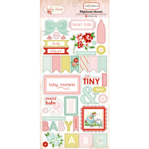 Baby Mine Girl - Chipboard Accents