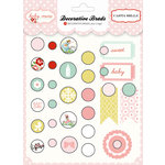 Carta Bella Paper - Baby Mine Collection - Girl - Decorative Brads