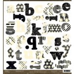 Crate Paper - Alphabet Diecuts - Avenue Collection, CLEARANCE