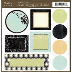Crate Paper - Avenue Shape Diecuts - Color Edition - Avenue Collection, CLEARANCE