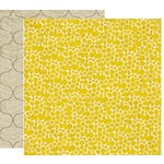 Crate Paper - Brook Collection - 12 x 12 Double Sided Paper - Sunshine