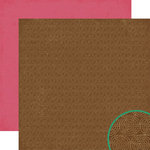 Crate Paper - Cottage Collection - 12 x 12 Double Sided Paper - Coco, CLEARANCE