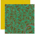 Crate Paper - Cottage Collection - 12 x 12 Double Sided Paper - Bloom, BRAND NEW