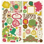 Crate Paper - Cottage Collection - Chipboard Stickers - Accents, CLEARANCE
