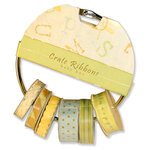 Crate Paper - Baby Bee Collection - Ribbon Ring - Crate Ribbons, CLEARANCE
