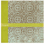 Crate Paper - Double Sided Textured Paper - Crush Collection - Lagoon, CLEARANCE