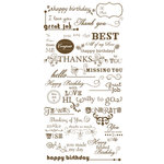 Crate Paper - Rub-On Transfers - Sentiments