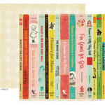 Crate Paper - Emma's Shoppe Collection - 12 x 12 Double Sided Paper - Books