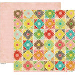 Crate Paper - Emma's Shoppe Collection - 12 x 12 Double Sided Paper - Quilts